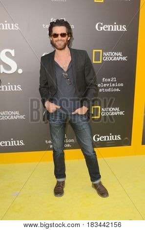 LOS ANGELES - APR 24:  Johnny Whitworth at the National Geographic's