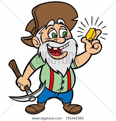 A vector illustration of a Gold Prospector.