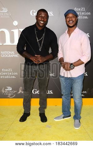 LOS ANGELES - APR 24:  Edwin Hodge, Arjay Smith at the National Geographic's