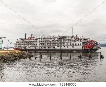 Classic Steam Boat Near Shore