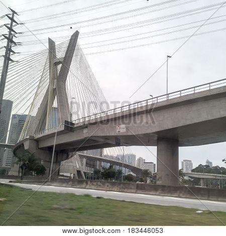 Ponte Estaiada Octavio Frias De Oliveira Cable-stayed Bridge