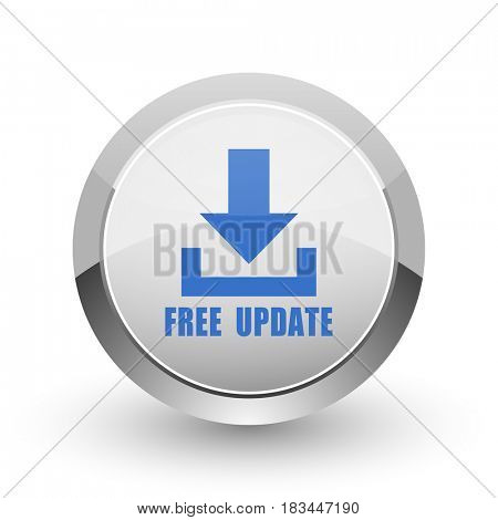 Free update chrome border web and smartphone apps design round glossy icon.