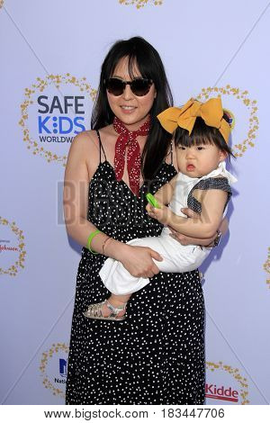 LOS ANGELES - APR 23:  Laura Izumikawa, Joey Izumikawa at the Safe Kids Day at the Smashbox Studios on April 23, 2017 in Culver City, CA