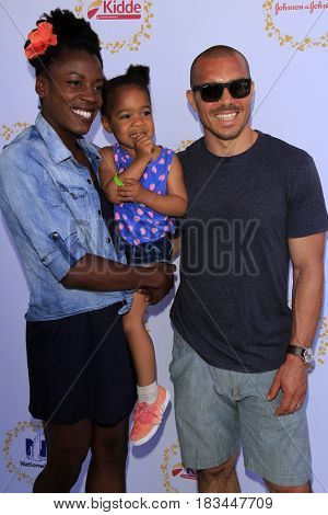 LOS ANGELES - APR 23:  Alysia Montano, Linnea Montano, Louis Montano at the Safe Kids Day at the Smashbox Studios on April 23, 2017 in Culver City, CA