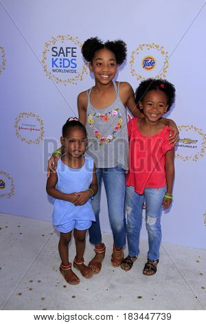 LOS ANGELES - APR 23:  Eris Baker, Harley Baker, Faithe Herman at the Safe Kids Day at the Smashbox Studios on April 23, 2017 in Culver City, CA
