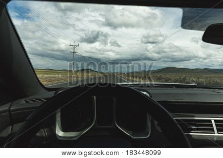 Cloudy Skies From Driver Perspective