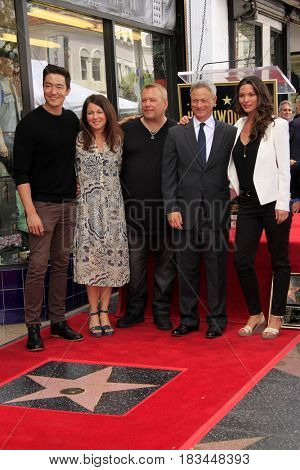 LOS ANGELES - APR 17:  Criminal Minds Guests, Daniel Henney, Gary Sinise, Alana De La Garza at the Gary Sinise Honored With Star On The Hollywood Walk Of Fame on April 17, 2017 in Los Angeles, CA