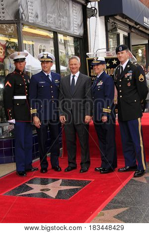 LOS ANGELES - APR 17:  Gary Sinise, United States Miliary Representatives at the Gary Sinise Honored With Star On The Hollywood Walk Of Fame on April 17, 2017 in Los Angeles, CA