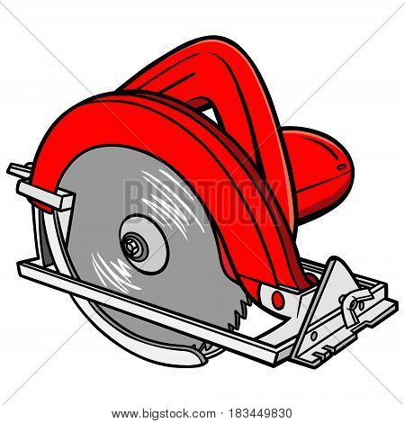 A vector illustration of a Hand Held Circular Saw.