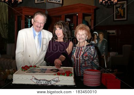 LOS ANGELES - APR 19:  Ron Linder, Kate Linder, Molly Wolveck at the Kate Linder 35 Years on The Young and The Restless Celebration at CBS Television City on April 19, 2017 in Los Angeles, CA