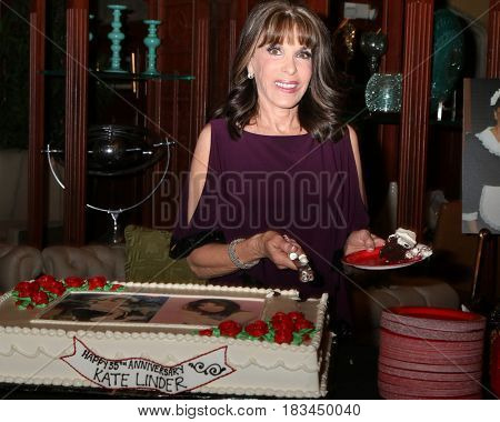 LOS ANGELES - APR 19:  Kate Linder at the Kate Linder 35 Years on The Young and The Restless Celebration at CBS Television City on April 19, 2017 in Los Angeles, CA