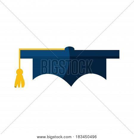 graduation cap icon over white background. vector illustration