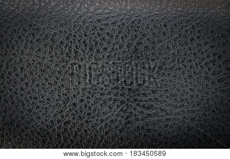 close up black leather texture or background