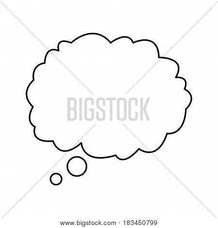 cloud talking speech outline design vector illustration