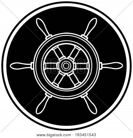 A vector illustration of a Helm icon.