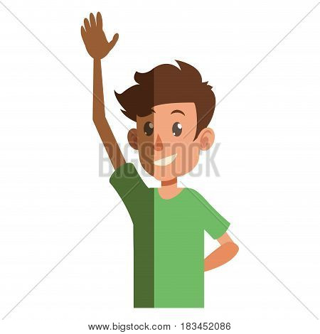young boy teen male smiling vector illustration