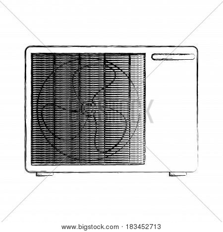 air conditioner isolated icon vector illustration design