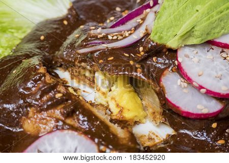 Special Mole Sauce Of Mexican Food