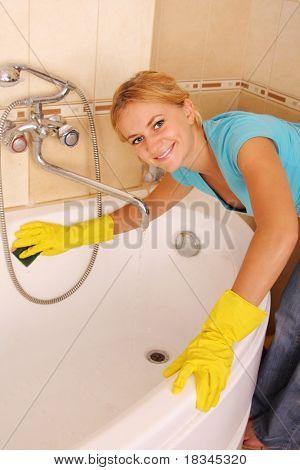 女人洗个澡