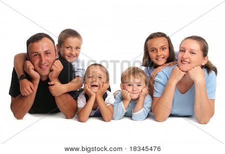 Happiness family having many children