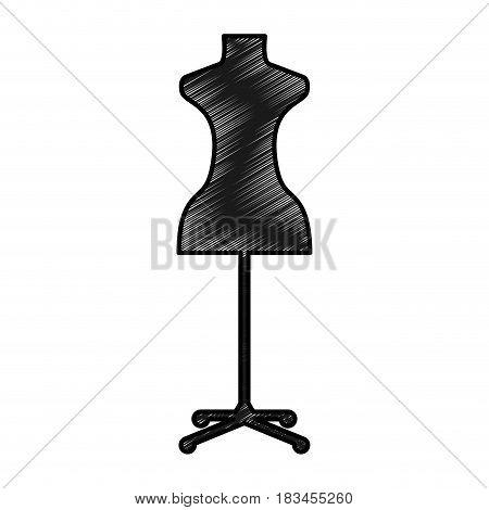 femenine manequin isolated icon vector illustration design