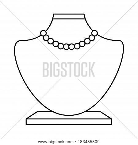 female manequin with necklace vector illustration design