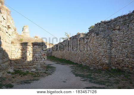 Chersonesus ruins archaeological park Sevastopol Crimea in Russia