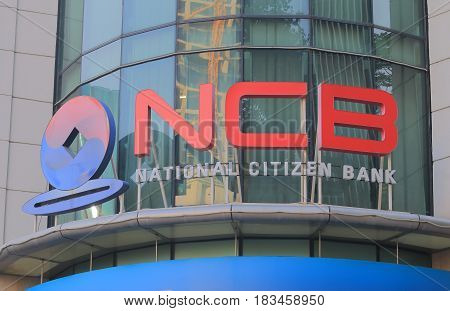 HO CHI MINH CITY VIETNAM - NOVEMBER 30, 2016: National Citizen Bank. National Citizen Bank was established in 1995 under License of the State Bank of Vietnam.