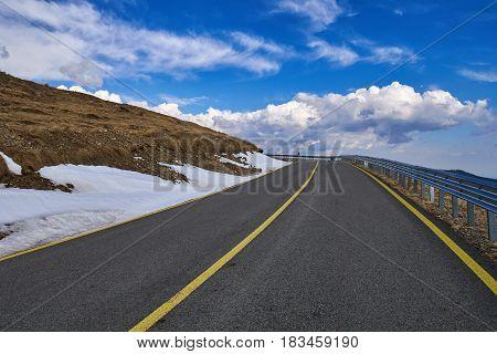 Transalpina the highest road in Romania going through Parang mountains