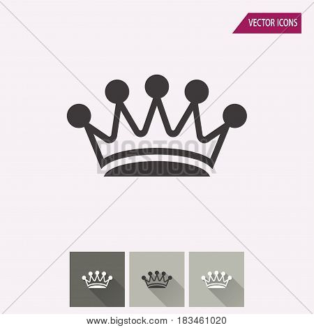 Crown vector icon. Illustration isolated for graphic and web design.