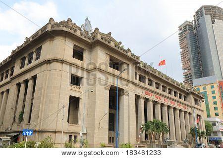 HO CHI MINH CITY VIETNAM - NOVEMBER 30, 2016: State bank of Vietnam. State bank of Vietnam is the central bank of Vietnam.