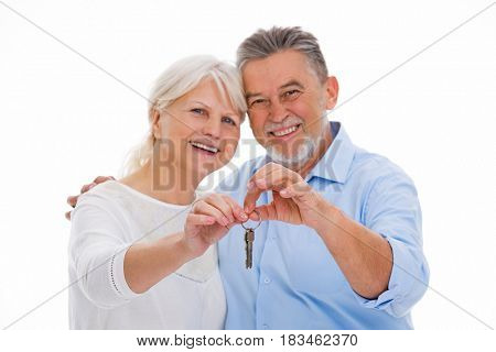 Mature couple moving house