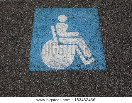 Disabled Traffic Sign