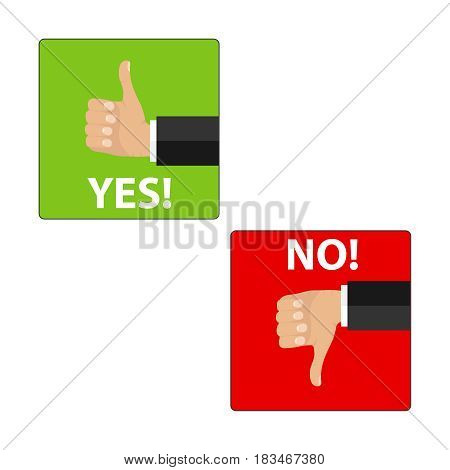 like and the dislike. Flat design vector illustration vector.