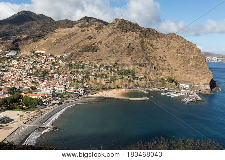 Machico bay on the east coast of Madeira Island Portugal