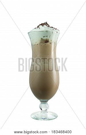 Chocolate Milkshake On A White Background