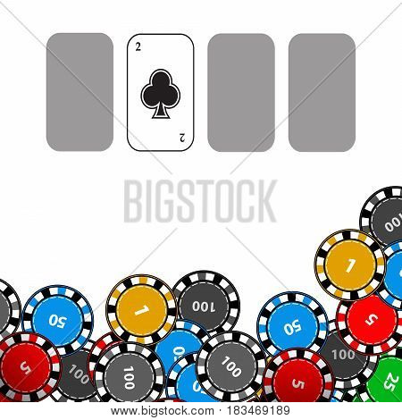 Poker Chips. Icon For Your Design.