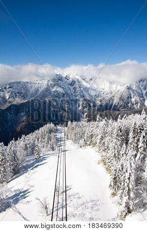 Tateyama mountain ropeway Japan experience in winter