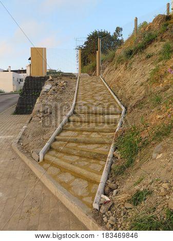 Newly laid Steps leading to Dog Park
