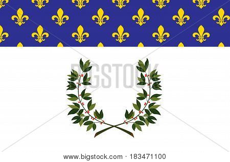 Flag of Reims is a city in the Grand Est region of France. Vector illustration