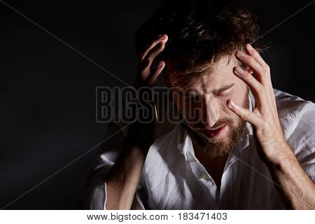 Man Trying To Calm Dawn