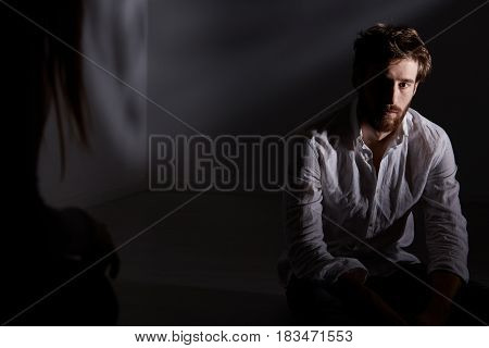 Man Looking At His Interlocutor