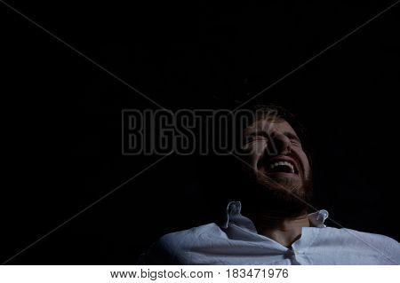 Man Laughing Ominously