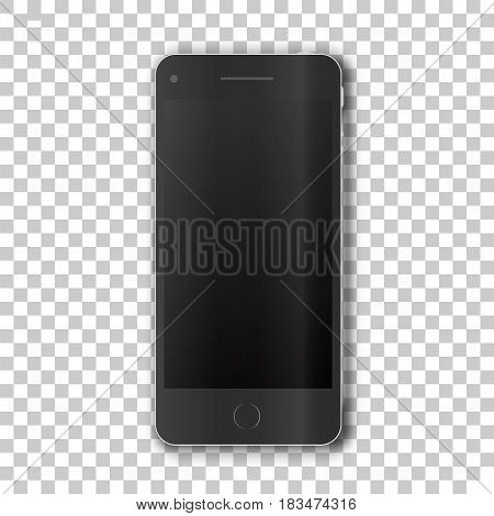 Phone body  on transparent background.. Template framework. Insert your picture. Vector illustration.