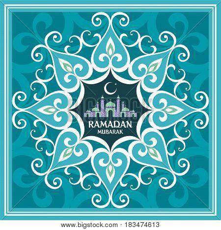 Ramadan Greeting Card Turquoi...