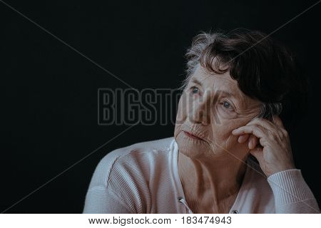 Worried Senior Woman
