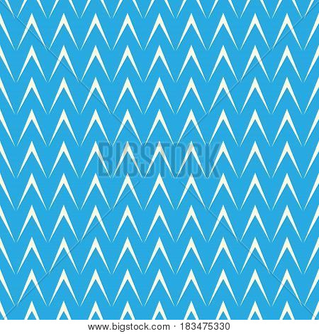 Geometric Herringbone on Blue Backgroundб Seamless Pattern for Fabric and Wrapping Paperб Vector Illustration