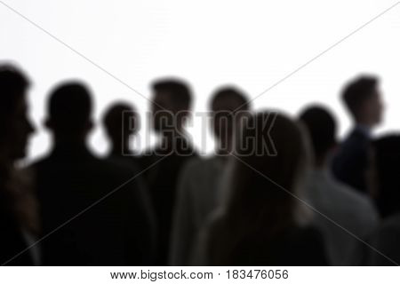 Anonymous People Standing