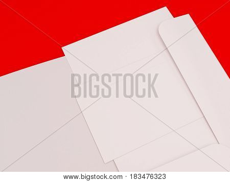 3D Illustration of Stationary set on color background