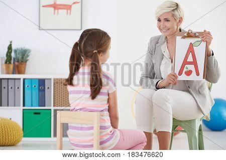 Girl With Speech Therapist